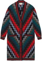 Gucci Multicolour wool oversize knit coat