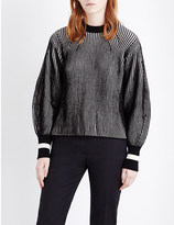 Sportmax Nome striped knitted jumper