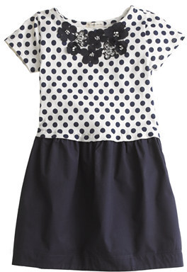 J.Crew Girls' jeweled daisy dot dress