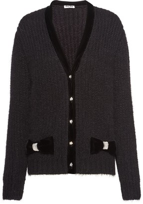 Miu Miu Jeweled Button Cardigan