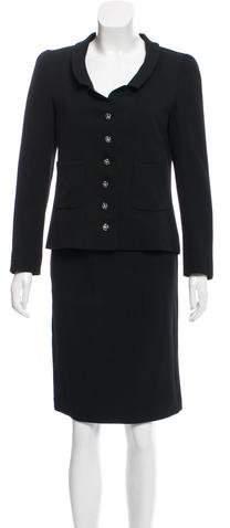 Chanel Wool Mini Skirt Suit
