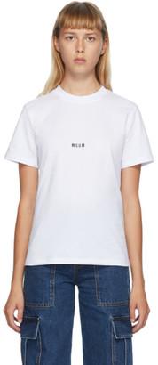 MSGM White Micro Logo T-Shirt