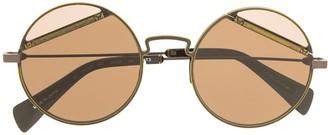 Yohji Yamamoto Adjustable Round Frame Sunglasses
