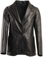 Jil Sander Leather Jacket With Button