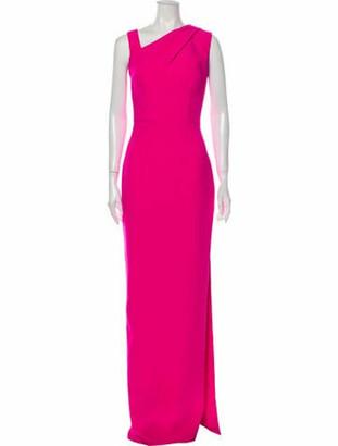 Safiyaa One-Shoulder Long Dress w/ Tags Pink