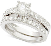 Macy's Diamond Bridal Set (1-1/2 ct. t.w.) in 14k White Gold