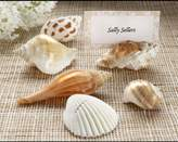 "Kate Aspen Kateaspen ""Shells by the Sea"" Authentic Shell Placecard Holders with Matching Placecards"