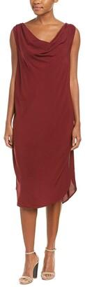 Michael Stars Women's Modern Rayon Draped Front Dress
