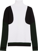 Tod's Color-block stretch-knit turtleneck sweater
