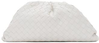Bottega Veneta White Intrecciato The Pouch Clutch