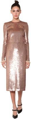 Philosophy di Lorenzo Serafini Draped Sequined Mini Dress