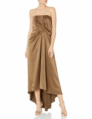Halston Women's Strapless Draped Satin Gown