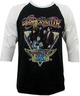 Impact Aerosmith Men's Distressed World Tour Raglan T-Shirt 2XL