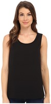 BB Dakota Alary Crepe de Chine and Chiffon Tank Top