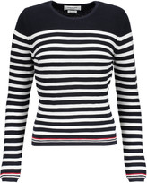 Thom Browne Striped ribbed wool sweater