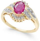 Macy's Ruby (1 ct. t.w.) & Diamond (1/3 ct. t.w.) Ring in 14k Gold