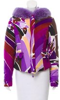 Emilio Pucci Fur-Trim Down Coat