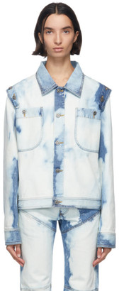 Telfar Blue Bleach Denim Detachable Jacket