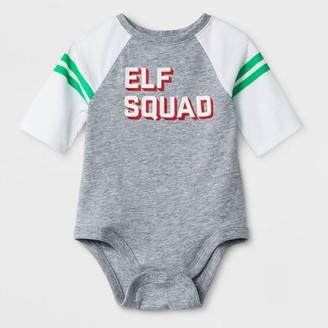 "Cat & Jack Baby ""Elf Squad"" Raglan Sleeve Bodysuit - Cat & JackTM Heather"