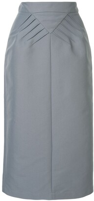No.21 Pleated Details Midi Skirt