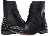 Steve Madden Trooper-S Boot (Black Leather) Men's Lace-up Boots