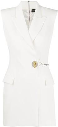 David Koma Button-Embellished Blazer Dress