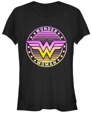Fifth Sun Dc Wonder Woman Gradient Logo Women's Short Sleeve T-Shirt