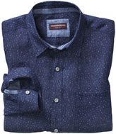 Johnston & Murphy Flower-Print Washed Linen Shirt