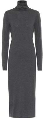 Polo Ralph Lauren Wool-blend turtleneck midi dress