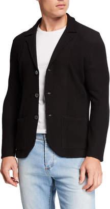 Isaia Men's Merino Wool Cardigan Blazer