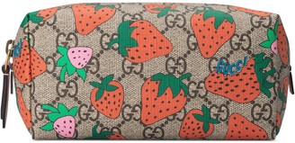 Gucci GG cosmetic case with Strawberry print