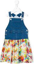 Junior Gaultier denim and chiffon dungaree Mini Me dress - kids - Cotton/Spandex/Elastane - 24 mth