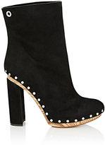 Proenza Schouler Women's Grommet-Embellished Clog Ankle Boots-BLACK