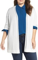Vince Camuto Plus Size Women's Sheer Stripe Cardigan