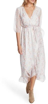 1 STATE Woodland Garden Faux Wrap Dress