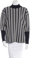 Tanya Taylor Striped Mock Neck Sweater