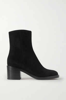 Gianvito Rossi 60 Suede Ankle Boots - Black