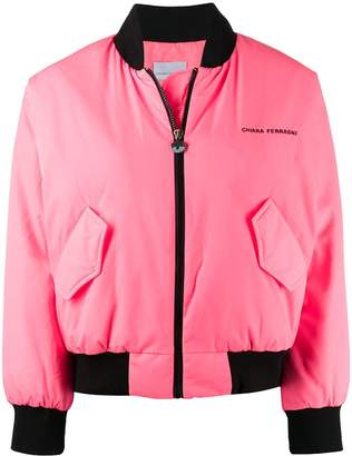 Chiara Ferragni logo cropped bomber jacket