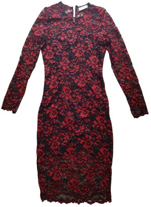 Ganni Red Lace Dresses