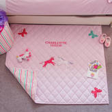 Kiddiewinkles Girl's Unicorn And Butterfly Pink Floor And Play Mat