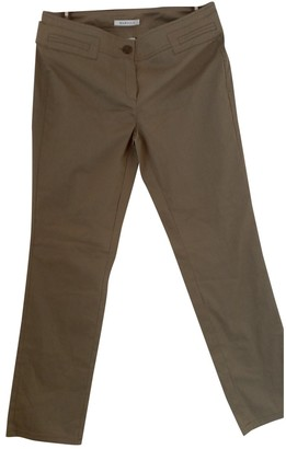 Marella Green Cotton Trousers for Women