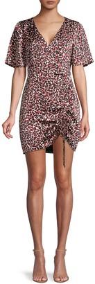 Sanctuary Leopard-Print Short-Sleeve Dress