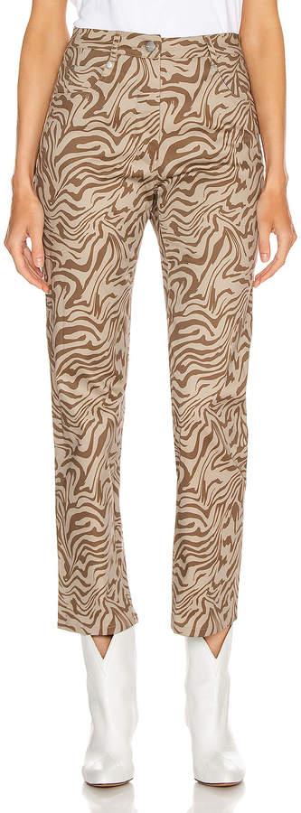 Fly London Miaou Zip Junior Pant in Tan Zebra | FWRD