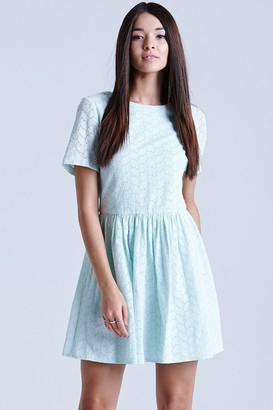 Girls On Film Mint Lace Tunic Dress