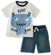 Kids Headquarters Baby Boys Baby Boys Monster Tee and Shorts Set
