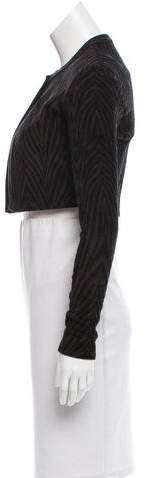 Alaia Cropped Zebra Patterned Jacket