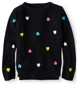Pink Angel Embroidered Heart Pullover Sweater (Little Girls & Big Girls)