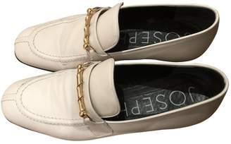 Joseph White Leather Flats