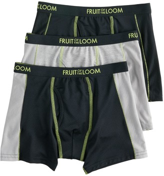 Fruit of the Loom Boys 4-20 3-Pack Breathable Flex Boxer Briefs