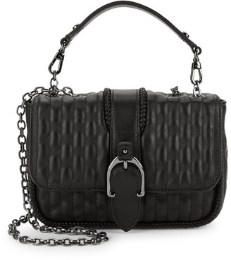 Longchamp Amazone Quilted Chain-Trim Leather Shoulder Bag